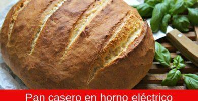 Pan casero en horno eléctrico